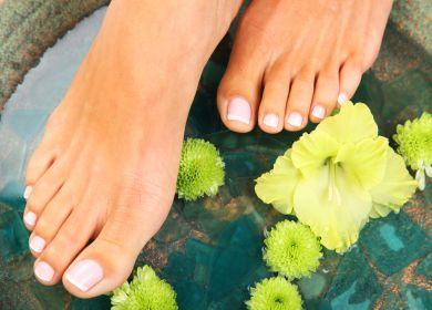 Erfrischung der Füsse und Beine
