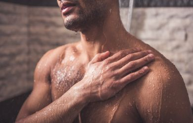 wohltuende Dusche